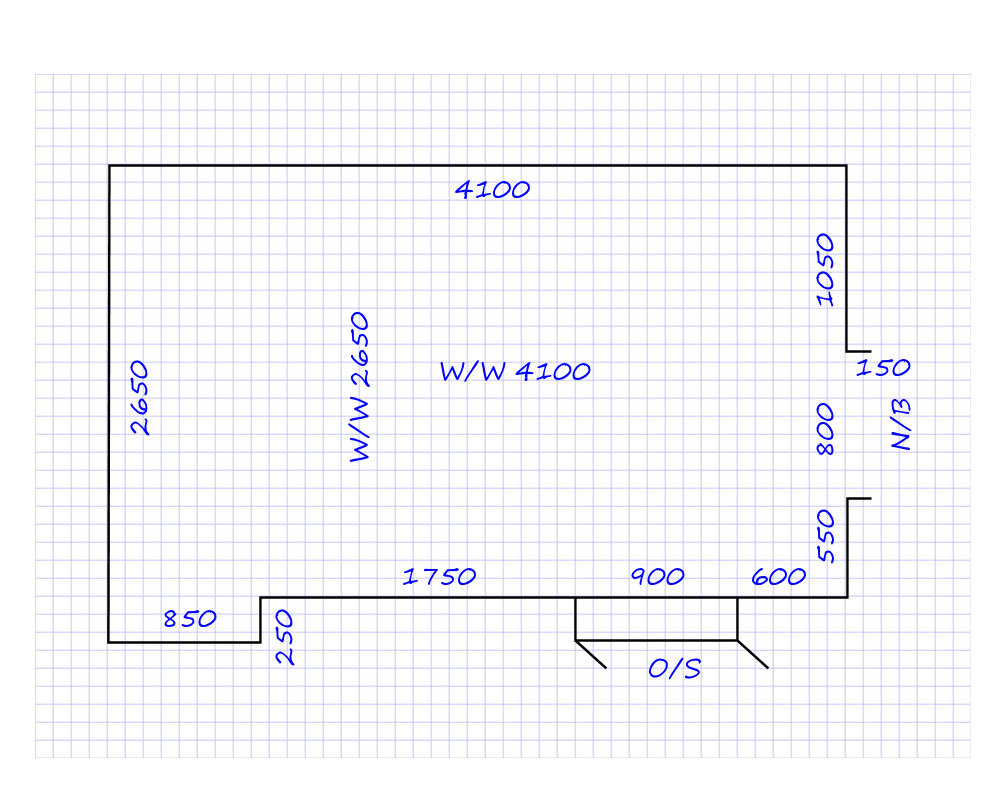 How to draw a floorplan scale on graph paper for Draw a floorplan to scale for free